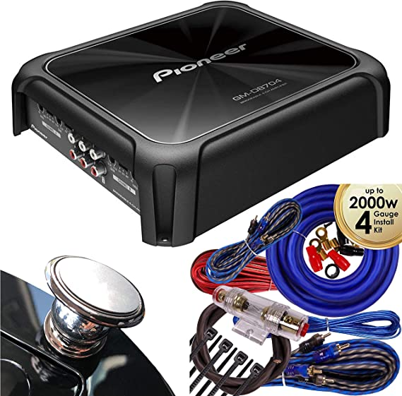 PIONEER GM-D8704 CAR AUDIO 4-CHANNEL BRIDGEABLE AMP AMPLIFIER 1200W MAX POWER