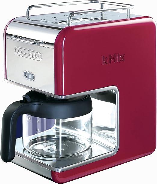 Amazon.com: DeLonghi Kmix – Cafetera de goteo, Rojo: Kitchen ...