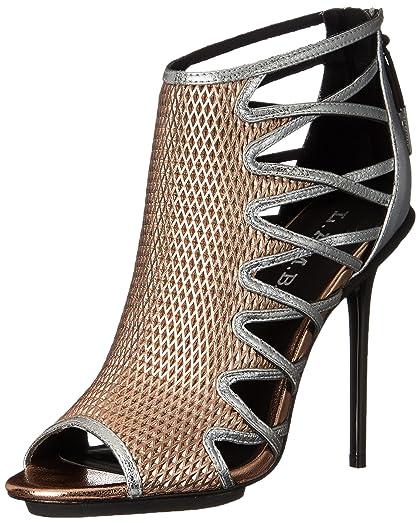 L.A.M.B. Women's Parker Dress Sandal, Rose Gold/Silver, ...