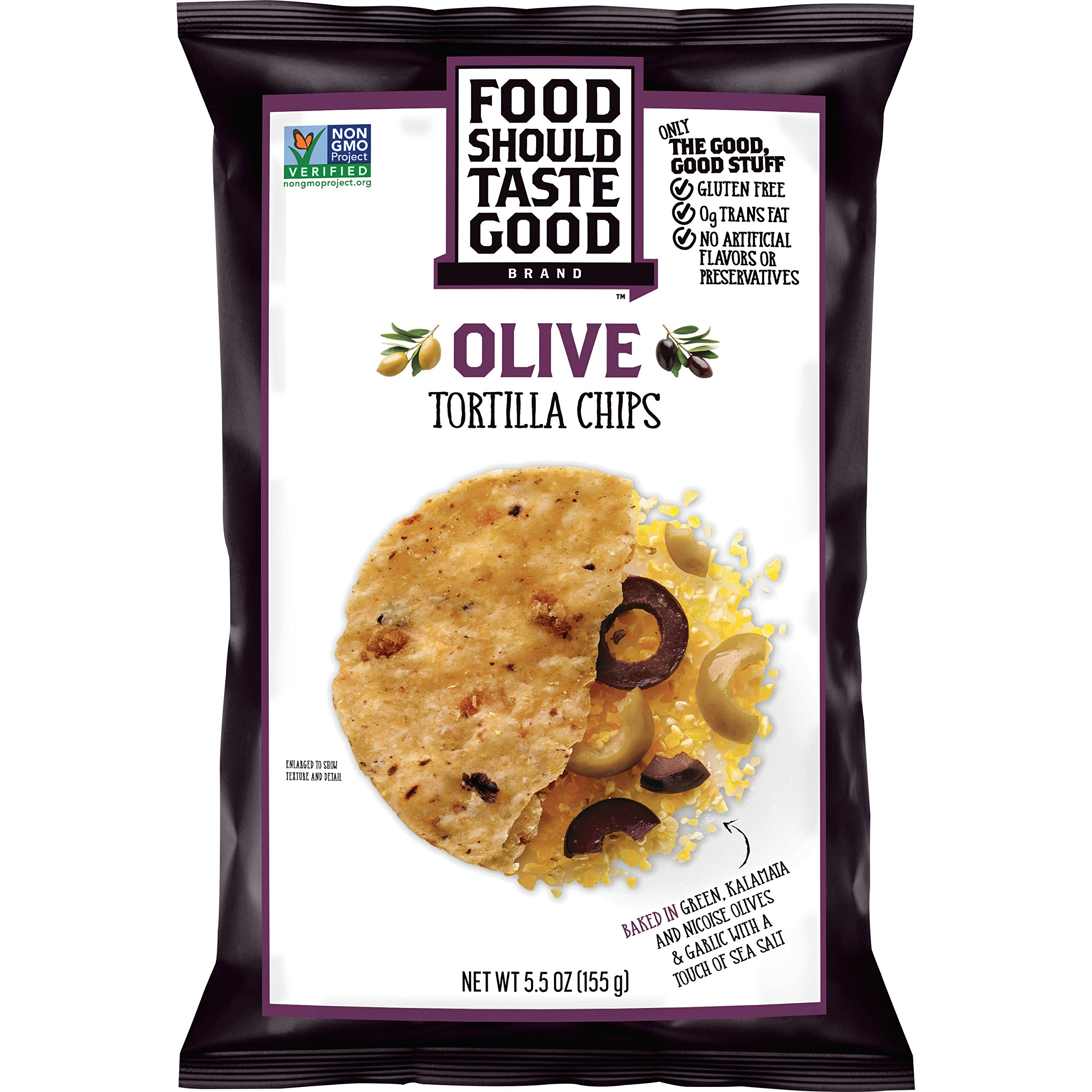 Food Should Taste Good, Tortilla Chips, Olive, Gluten Free Chips, 5.5 oz