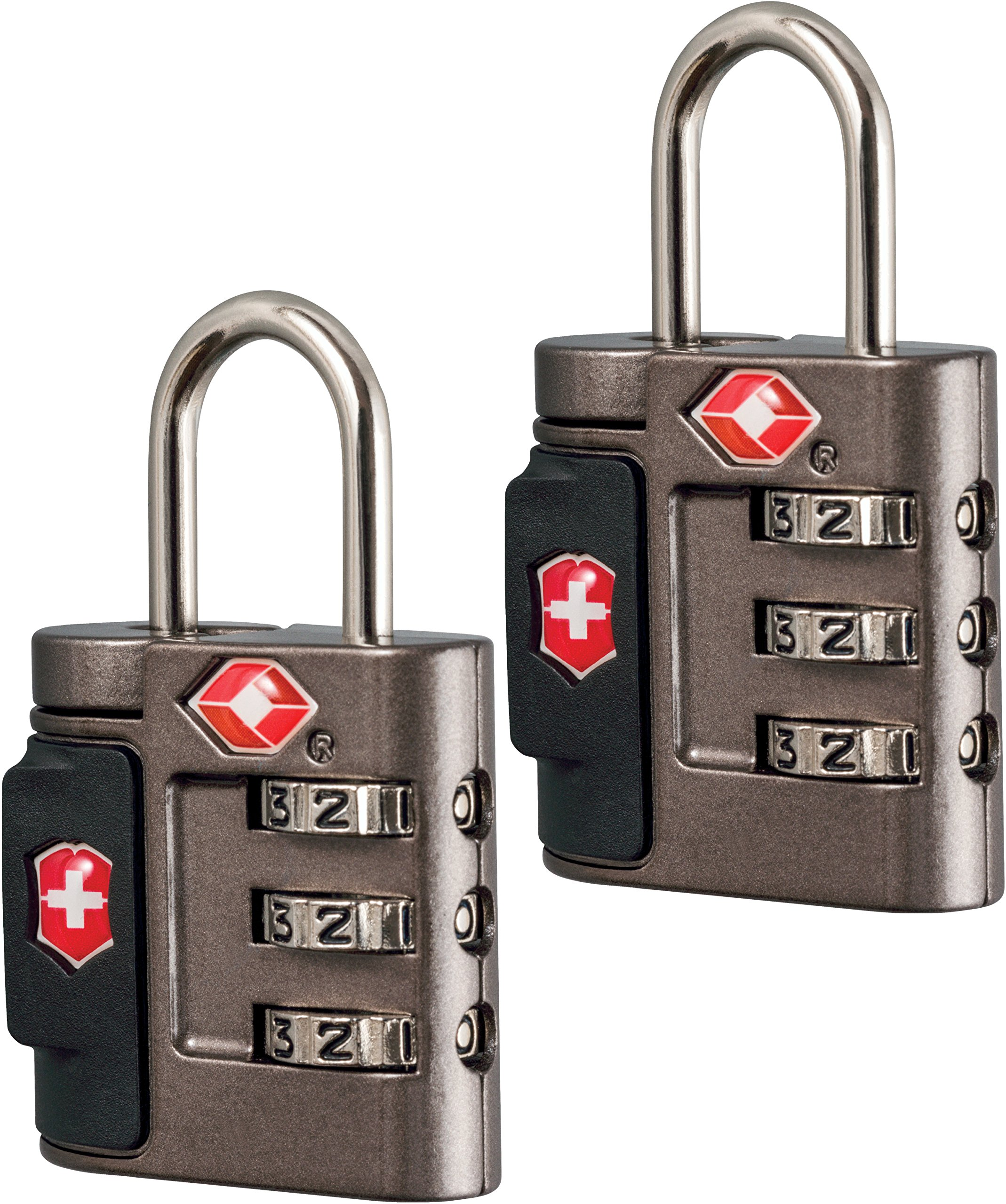 Victorinox Travel Sentry Approved Combination Lock Set, Grey/Red Logo by Victorinox
