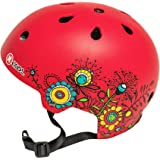 Small Red with Flowers XCOOL Helmet