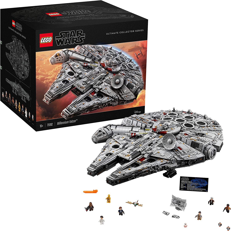 LEGO Star Wars - Millenium Falcon, Maqueta de Construcción del Halcón Milenario de la Guerra de las Galaxias, Edición Serie Coleccionista con Minifiguras de Chewbacca, C3-PO y Han Solo (75192)