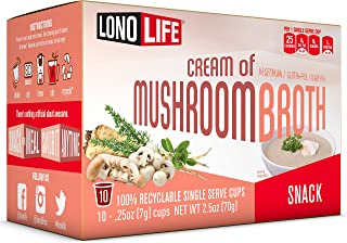 product image for Lonolife Cream of Mushroom Broth Snack, Single Serve Cups, 10 Count