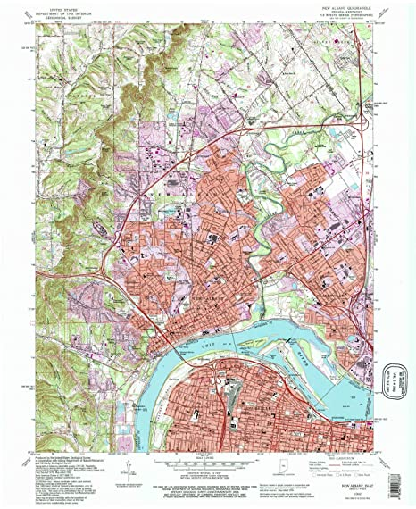 Albany Indiana Map.Amazon Com Yellowmaps New Albany In Topo Map 1 24000 Scale 7 5 X
