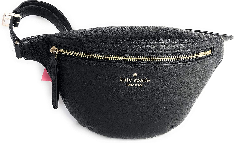 Kate Spade Jackson Belt Bag Pebble Leather Black Fanny Pack: Amazon.es: Equipaje