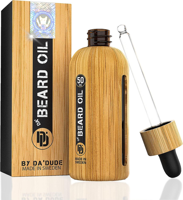 Da'Dude Da Beard Oil, Olio Barba Uomo Idratante Vegano
