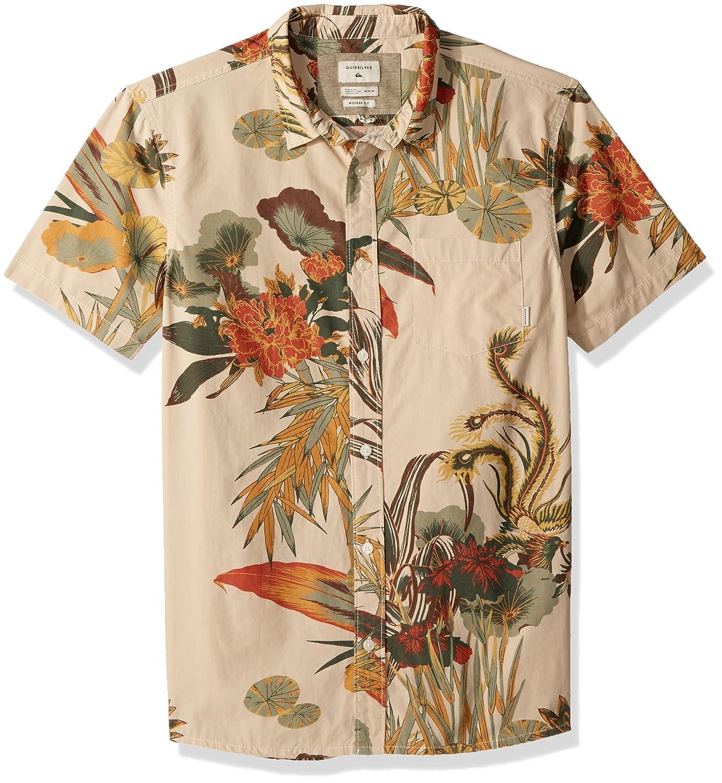 25c81877c187 Amazon.com  Quiksilver Men s Hibashii Short Sleeve Button Down Shirt   Clothing