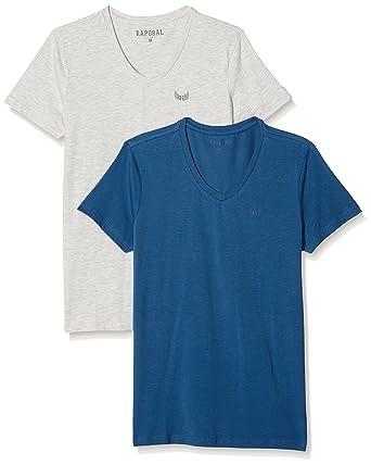 Gift, T-Shirt Homme, Multicolore (Coblgm), Large (Taille Fabricant: L) (lot DE 2)Kaporal