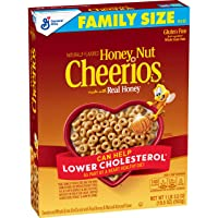 Honey Nut Cheerios, Cereal with Oats, Gluten Free, 19.5 oz