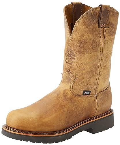 Amazon.com: Justin Original Work Boots Men's J-max Steel Toe Pull ...