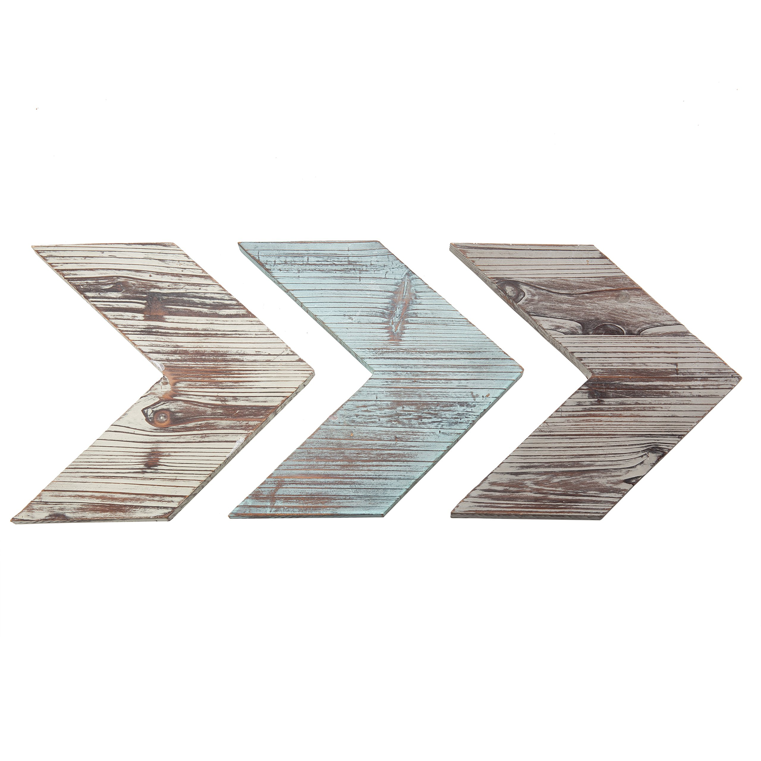 MyGift Wall-Mounted Decorative Mixed Rustic Wood Chevrons, Set of 3 by MyGift