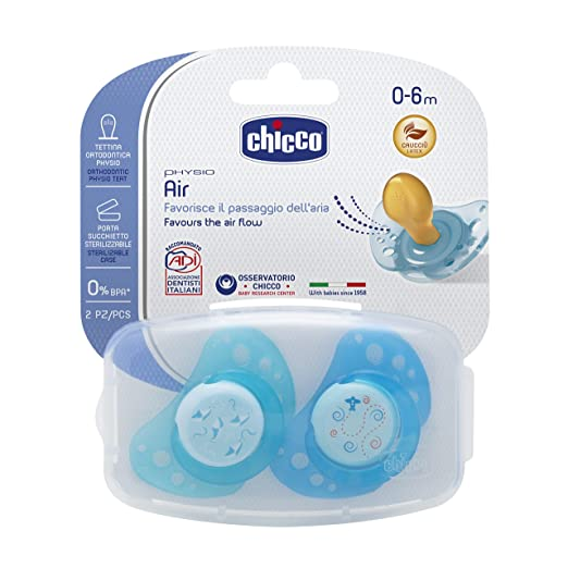3 opinioni per Chicco 00075021210000 Air Boy Succhietto, Caucciù, Blu/Azzurro, 0-6 Mesi, 2