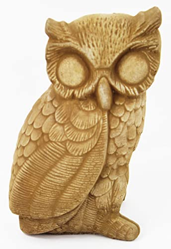 Owl Garden Statues Cement Animal Figure Cast Stone Owl Sculpture Outdoor Bird Statuary
