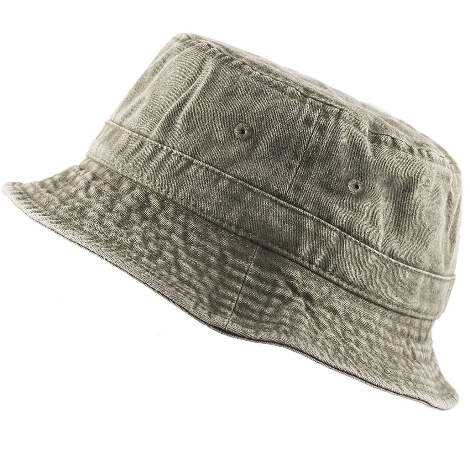 THE HAT DEPOT 300N 100% Cotton Packable Pigment Washed Cotton Bucket Hat