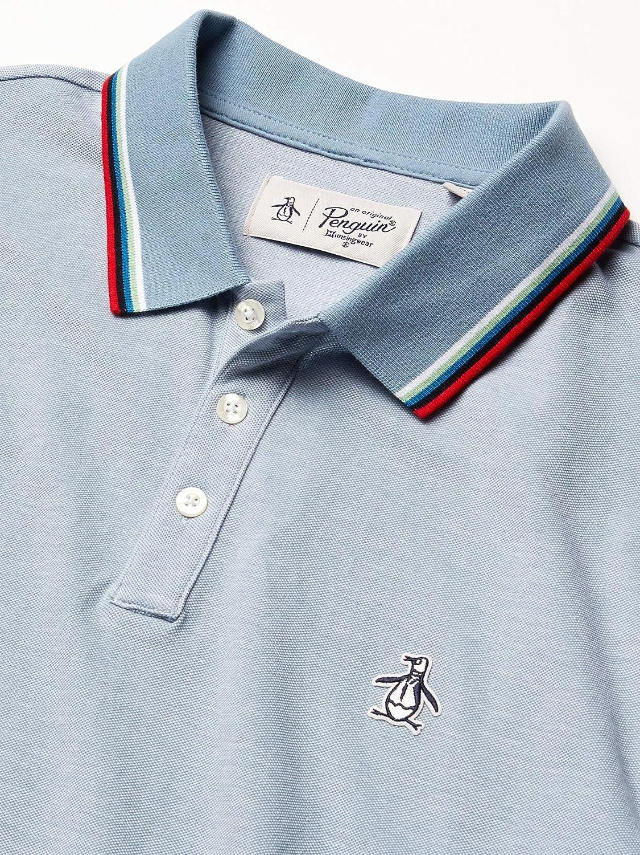 Original Penguin Mens Short Sleeve Tipped Polos