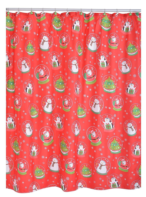 Ridder 478150-100 Duschvorhang Textil ca. 180 x 200 cm, Christmas ...