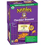Annie's Organic Cheddar Bunnies Baked Graham Snacks Box, 12 Count