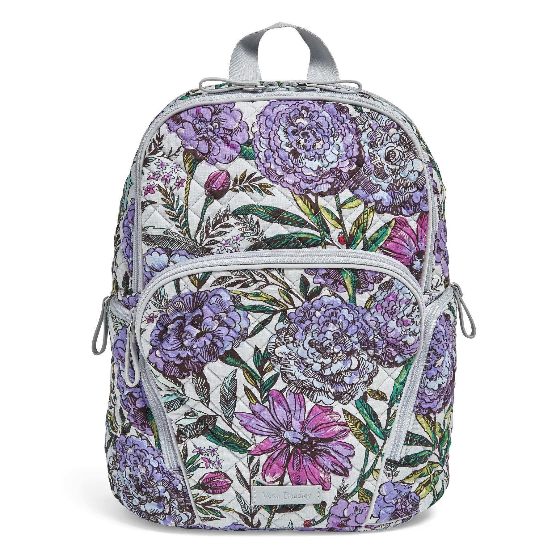 Vera Bradley Hadley Backpack, Signature Cotton, Lavender Meadow by Vera Bradley
