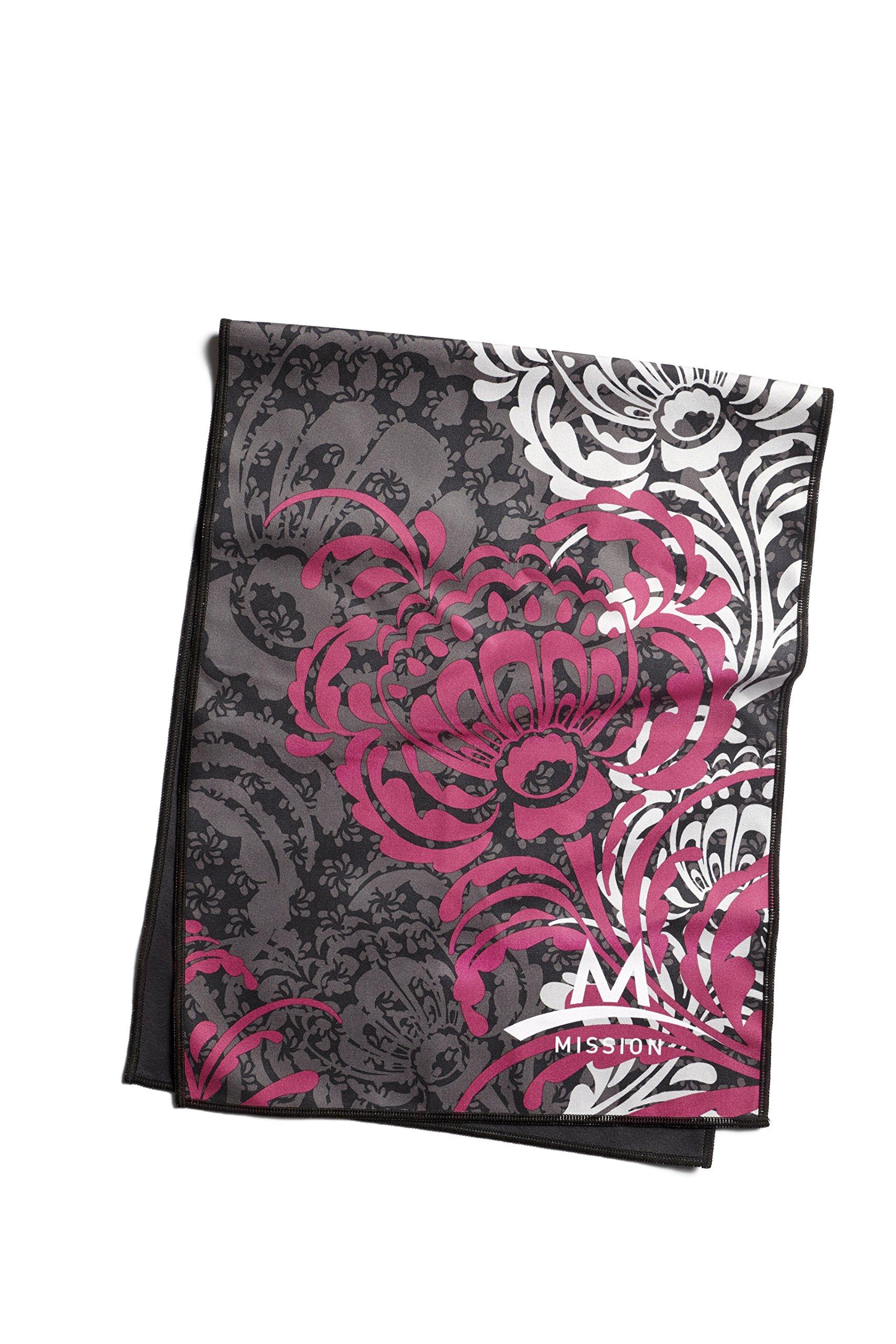 Mission Enduracool Microfiber Cooling Towel, Black Magenta, Large by Mission