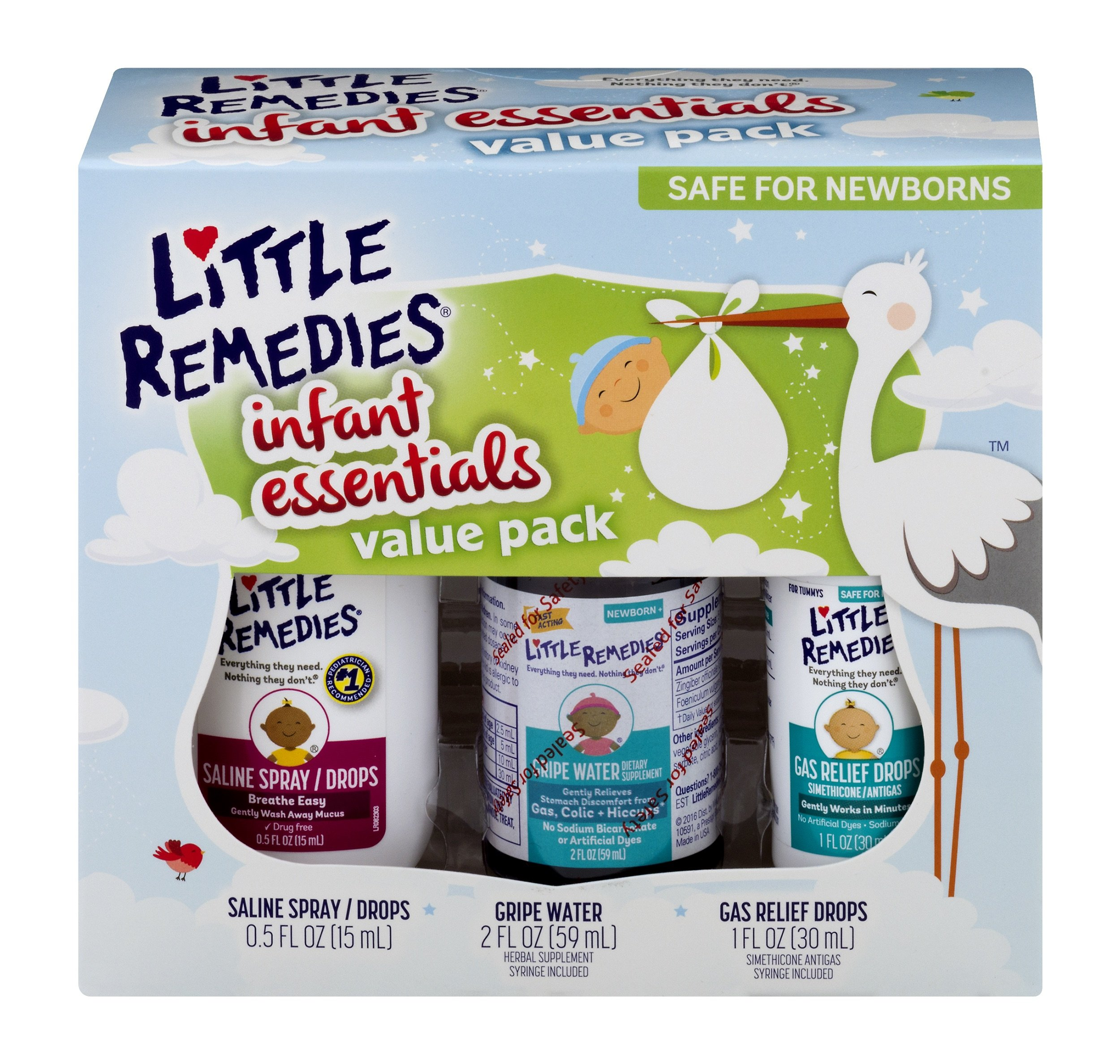 Little Remedies Infant Essentials Value Pack | 3 Great Products for Baby's Nose and Tummy by Little Remedies