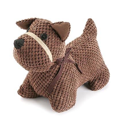 Versa 20270072 Sujetapuertas perro Terrier marrón, 25x14x20cm, Tope puerta