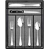 Teivio 24 Piece Silverware Set, Flatware Utensils Set Mirror Polished, Dishwasher Safe Service for 4, Include Knife/Fork…