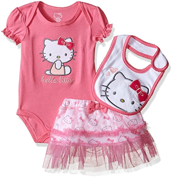 cbf1512ec Hello Kitty Baby Girls' Gift Set, Pink Carnation, 24 Months