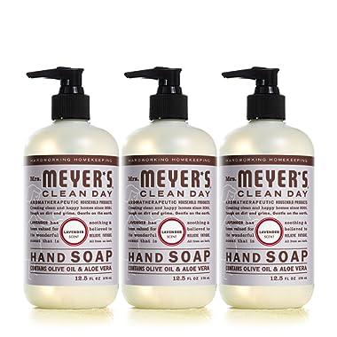 Mrs. Meyer's Liquid Hand Soap, Lavender, 12.5 fl oz (3 ct)