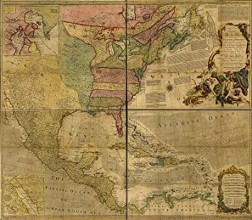Map Of North America 1763.Amazon Com Historic 1763 Map An Accurate Map Of North America