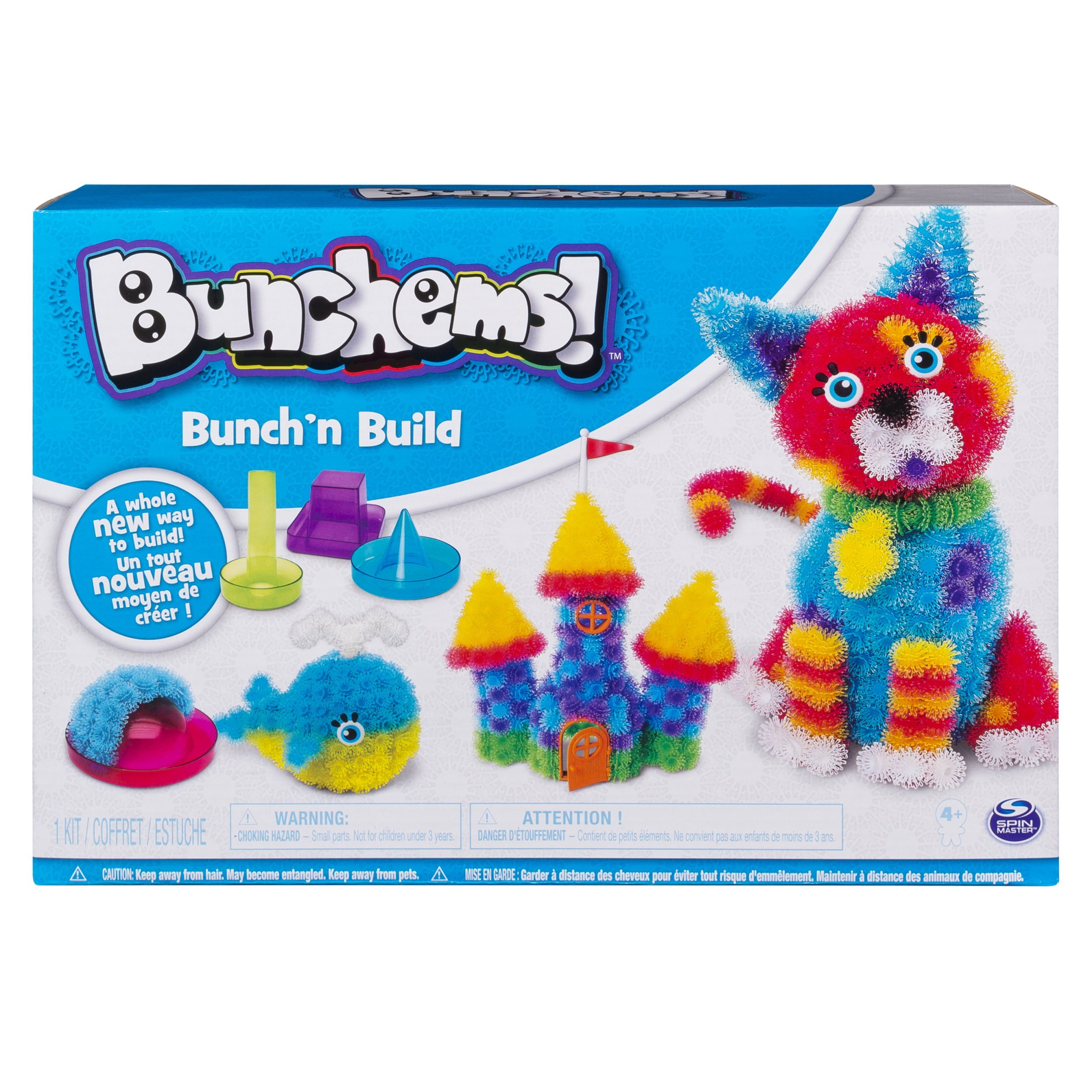 Bunchems Bunch'n Build Activity Kit with 4 Shaper Molds and 400 Bunchems for Ages 6 and Up by Bunchems