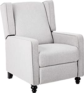 JC Home Arm Push recliner, one size, Grey