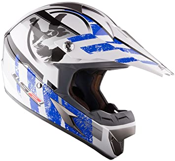 Off Road Casco LS2 MX433 Casco y Gafas Casco de Motocross MX Azul (M)