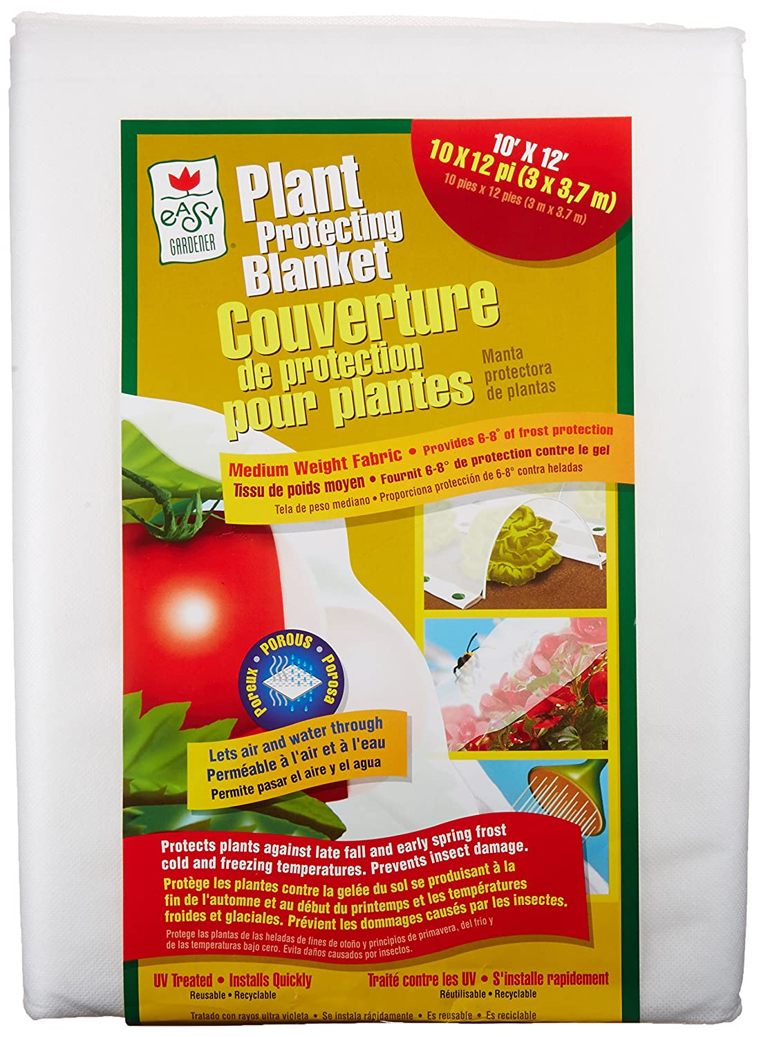 Amazon.com : Easy Gardener Plant Protection Blanket For Frost Protection,  Seed Germination, Season Extension And Animal Protection, 10 Feet X 12 Feet  ...