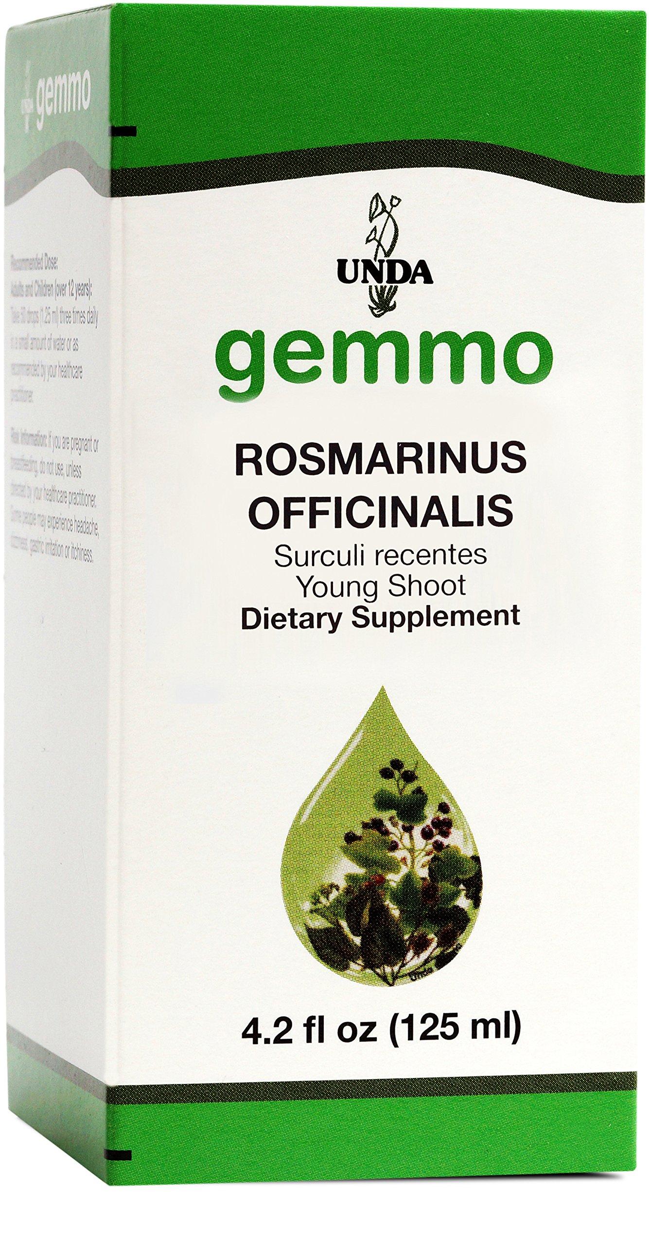 UNDA Gemmo Therapy - Rosmarinus Officinalis - Rosemary Young Shoot Extract - 4.2 fl oz (125 ml)