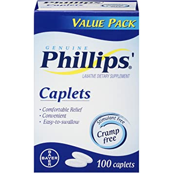 Phillips' Caplets, Laxative, 100 Count
