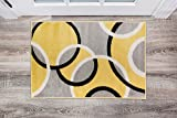 Rugshop Contemporary Abstract Circles Area Rug 2' x