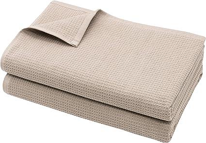 ZOLLNER Set of 2 Sauna Towels Waffle Pique, Approx. 70 x 180 cm, Beige: Amazon.de: Küche & Haushalt
