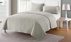 VCNY Home Nina Quilt Set, King, Grey