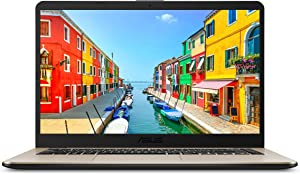 "ASUS VivoBook 15"" FHD Laptop, Dual-Core Ryzen R5-2500U Processor (up to 3.6 GHz) with Radeon Vega 8 Graphics, 8GB DDR4, 256GB M.2 SSD, 802.11ac Wi-Fi - F505ZA-DH51, Icicle Gold"