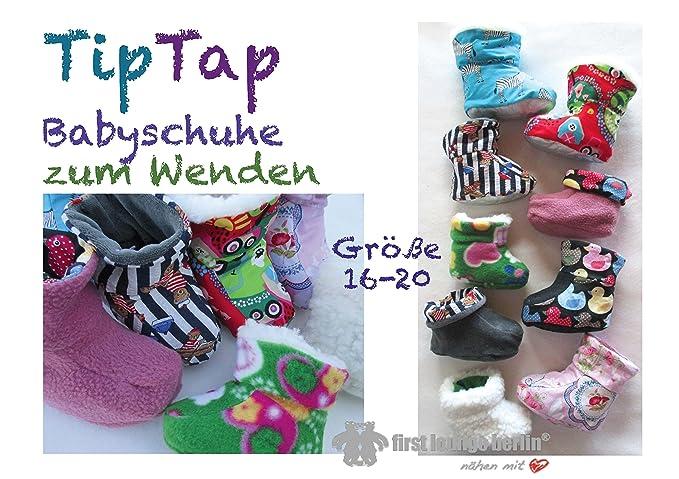 TipTap Nähanleitung mit Schnittmuster auf CD für Baby-Hausschuhe ...