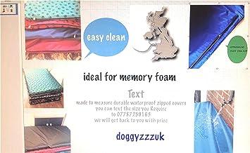 Ideal para cubierta de espuma con efecto memoria para medir Pet Cage Cualquier Tamaño impermeable cama para perro ...