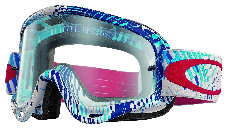 Amazon.com: Oakley O-Frame MX Podium Check Goggles (White Frame ...
