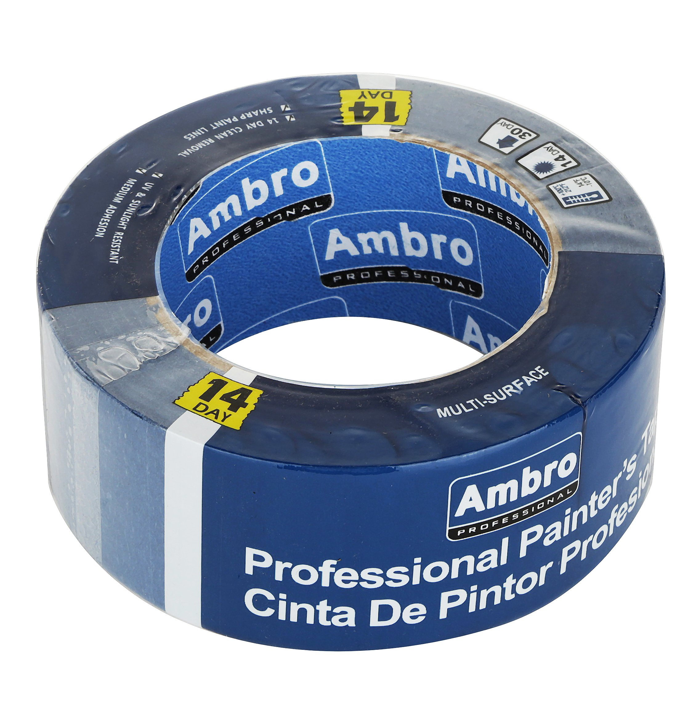 Ambro Professional Painters Tape Multi Surface Use (Blue) (12 pack, 2 inches x 60 yds) by Ambro (Image #2)