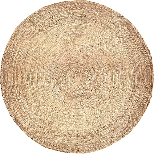 Natural Jute Area Rug Large 8 ft