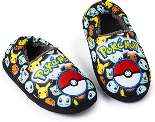 Pokemon Pikachu Slippers for Boys and Girls 3D Character Kids Footwear