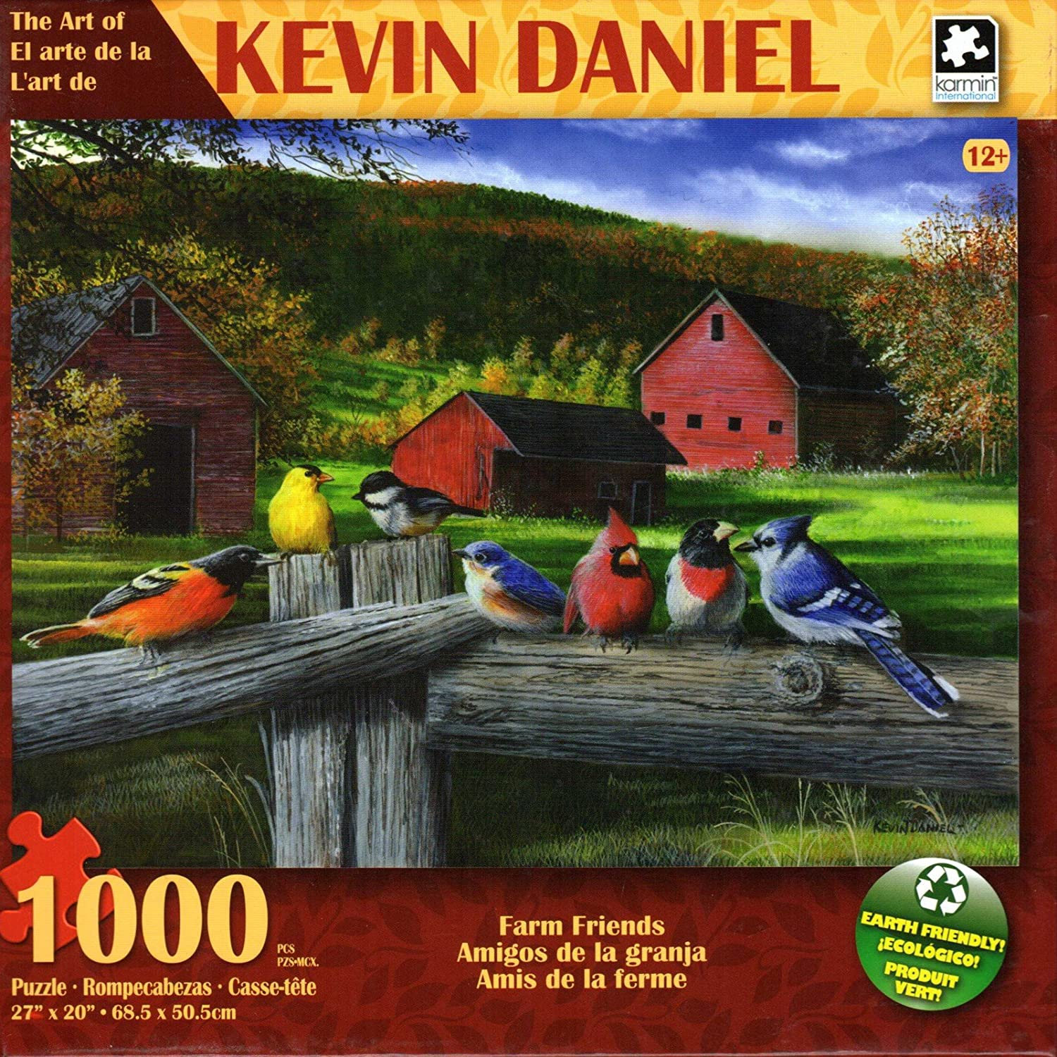 Farm Friends By Kevin Daniel 1000 Piece Puzzle George