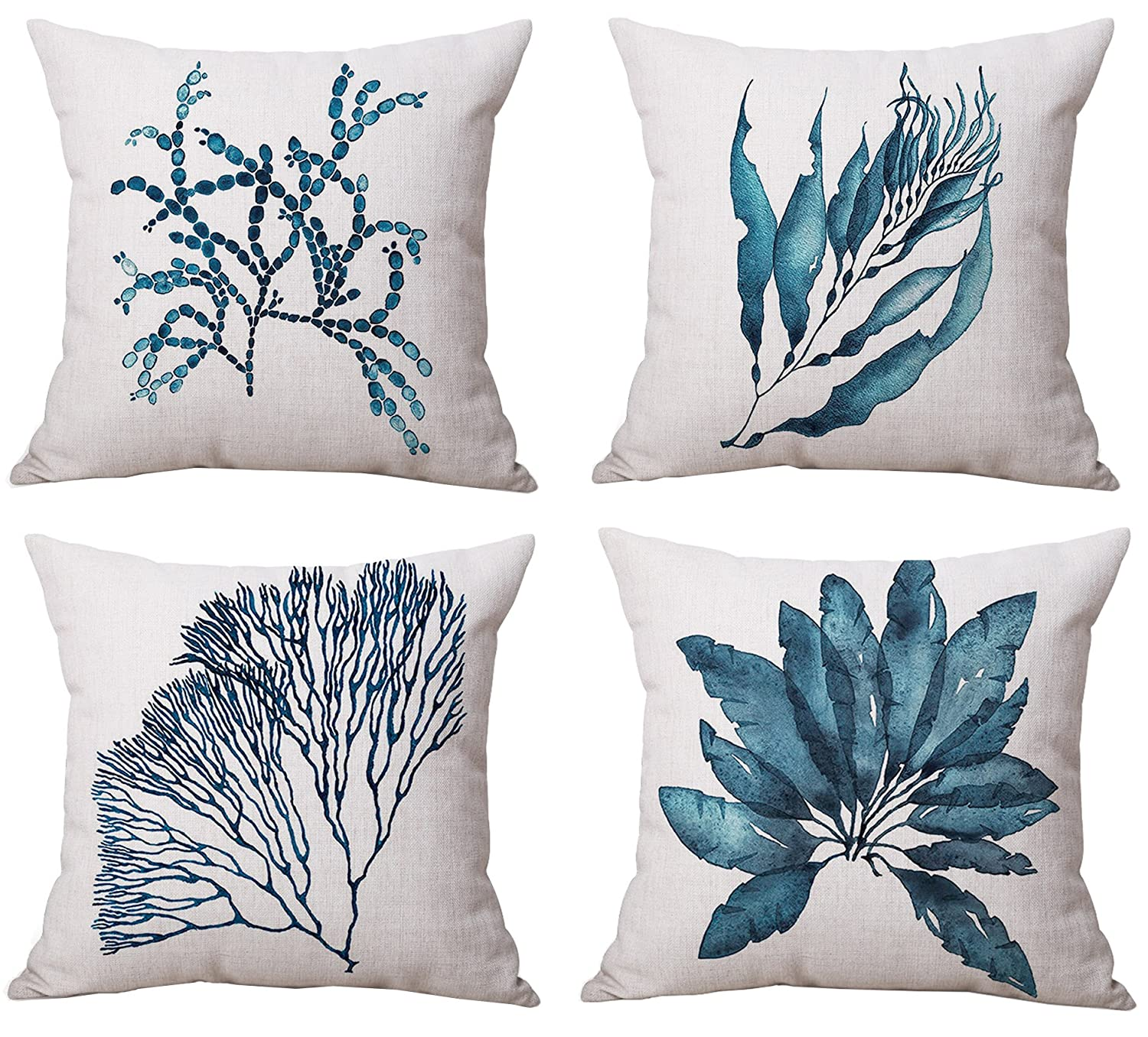 Round Merry Pillows 18 Cotton Linen Throw Pillow Covers Cases Office Sofa Cushion Covers Black