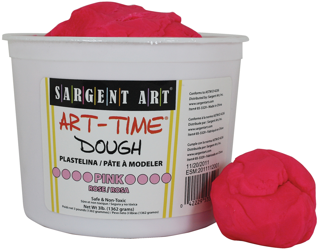 Sargent Art 85-3329 3-Pound Art-Time Dough, Pink