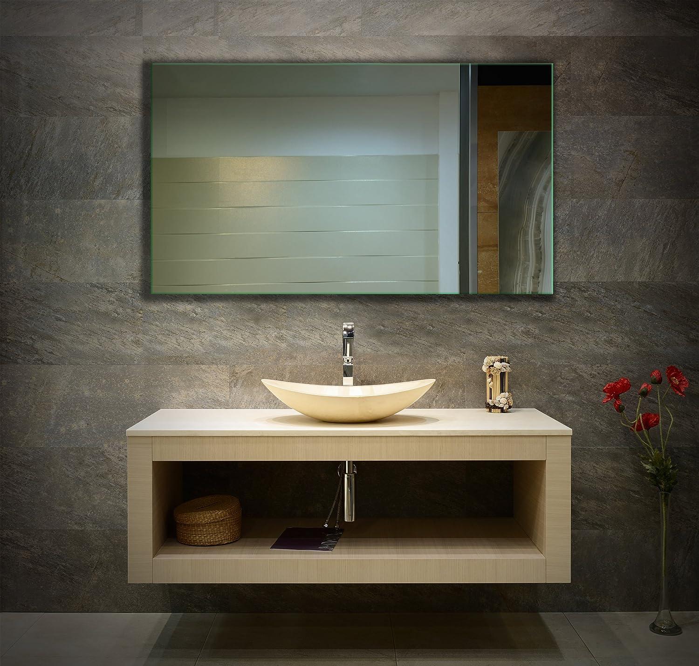 Ramix Spiegel, Rahmenloser, Spiegelfliese, Wandspiegel, Badspiegel, Zimmer, Größe  Breite Breite Breite 100 cm x Höhe 45 cm 87ecae